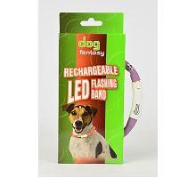 Obojok DOG FANTASY svetelný USB 45cm