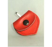Adresár kožené srdiečko červené 55/50mm