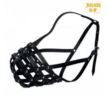 Julius-K9 náhubok hovädzej kože čierny