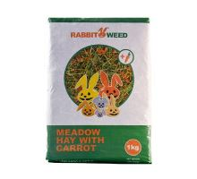 Seno lúčne s mrkvou RabbitWeed 1kg 40 l