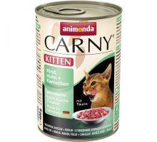 ANIMONDA konzerva CARNY Kitten - hovězí, kuře+ králík 400g