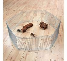 Pozinkovaná ohrádka pre myši a škrečky 6 dielov 48x25cm