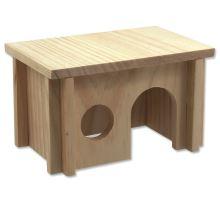 Domček SMALL ANIMAL drevený hladký 20 x 13 x 12 cm 1ks