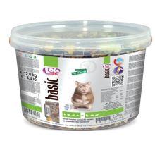 Lolo BASIC kompletné krmivo pre škrečky 3 L, 2 kg kýblik