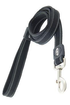 Vodítko BUSTER AIRmesh reflexné L / XL 140cm / 25mm čierne