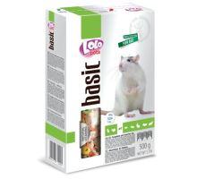 Lolo BASIC kompletné krmivo pre potkany 500 g krabička