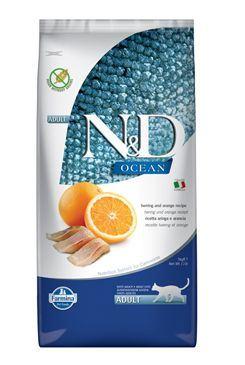 N & D OCEAN CAT GF Adult Herring & Orange 5kg