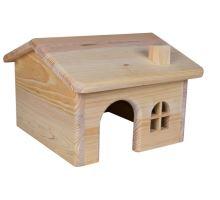 Dr. domček so sedlovou strechou pre myši a škrečky 15x11x15cm