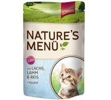 Schmusy Cat Nature Menu vrecko Junior losos + jahňa 100g