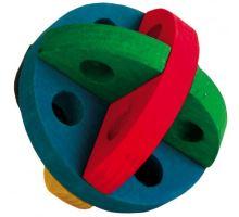 Drevený farebný loptičku na hranie a maškrty 8 cm