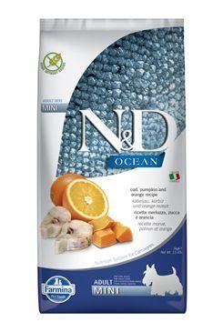 N & D OCEAN DOG LG Adult Mini Codfish & Orange 7kg