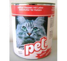Pet Katze masové kocky s pečeňou pre mačky 855g