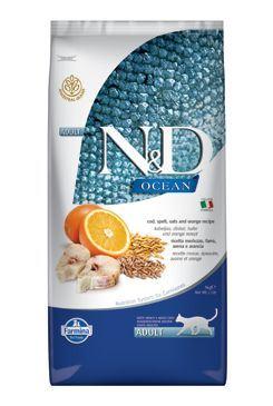 N & D OCEAN CAT LG Adult Codfish & Orange 10kg