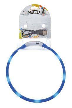 Obojok LED s USB dobíjaním 50cm modrý IMAC