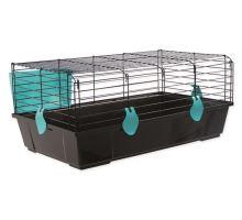 Klietka SMALL ANIMAL Michal čierna s modrou výbavou 1ks