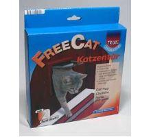 Dvierka mačka plast 2P Freecat Classic Trixie hnedá