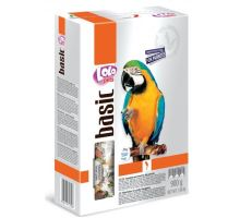 Lolo BASIC kompletné krmivo pre veľké papagáje 900g krabička