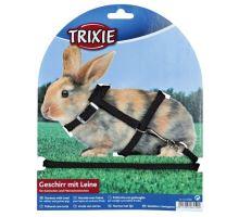 Postroj Králik zakrslý nylon + vodítko 8mm / 1,20 m Trixie