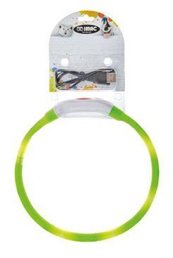 Obojok LED s USB dobíjaním 40cm zelený IMAC