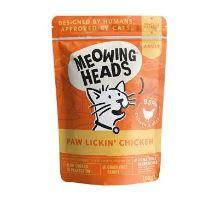 MEOWING HEADS Paw Lickin 'Chicken kapsička 100g