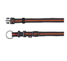 FUSION nylonový obojok S- M 30-45 cm / 17 mm - čierno-oranžový