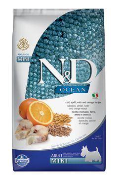 N & D OCEAN DOG LG Adult Mini Codfish & Orange 2,5kg