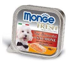 MONGE FRESH - paštéta a kúsky s lososom 100 g pre psov
