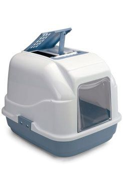 WC mačka s filtrom a lopatkou modrá 50x40x40cm