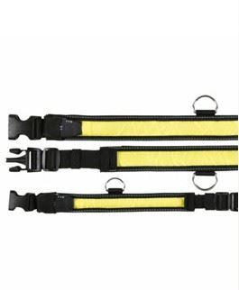 Obojok blikajúci nylon žlto / čierny 30-40cm/35mm (SM) VÝPREDAJ