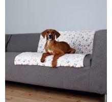 Flísová deka LINGO 100 x 75 cm bílo/béžová