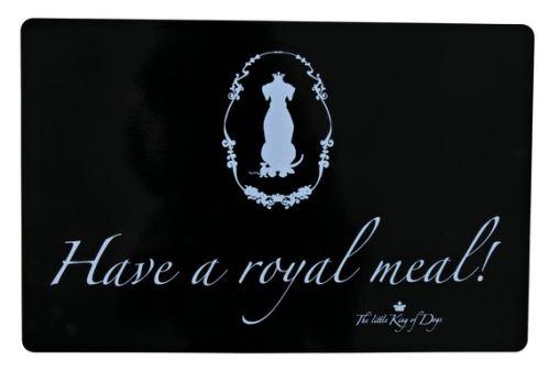Prestieranie - gumová podložka pod misky čierna Royal 44x28 m cm