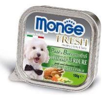 MONGE FRESH - paštéta a kúsky s kuraťom a zeleninou 100g