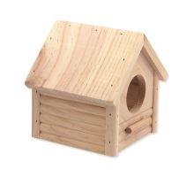 Domček SMALL ANIMAL Búdka drevený 12 x 12 x 13,5 cm 1ks