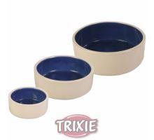 Keramická miska - biela / modrá