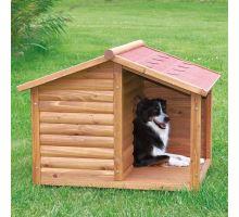 Natura búda drevená chata s terasou 130x100x105 cm