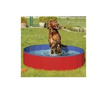 Bazén skladacie nylon pes 120x30cm blue / red KARLIE