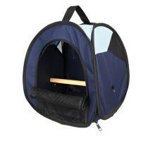 Transportná taška s bidielka pre vtáky tm / sv.modrá 27x32x27cm