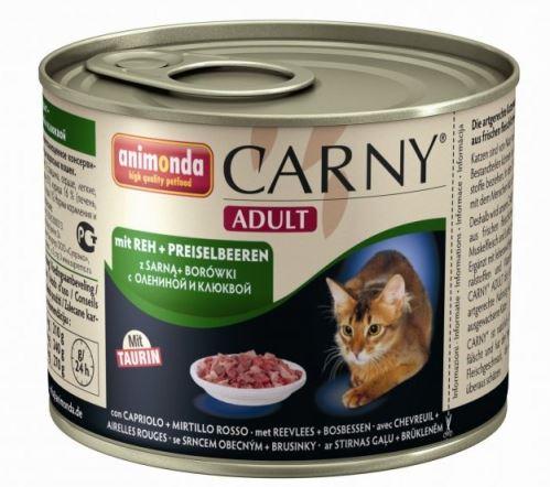 ANIMONDA konzerva CARNY Adult - srnčia, brusnice 200g