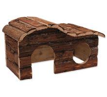 Domček SMALL ANIMAL Kaskada drevený s kôrou 31 x 19 x 19 cm 1ks