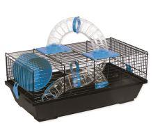 Klietka SMALL ANIMAL Libor čierna s modrou výbavou 1ks