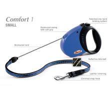 Vodítko FLEXI Comfort 1 5m/12kg Lanko, Modrá VÝPREDAJ