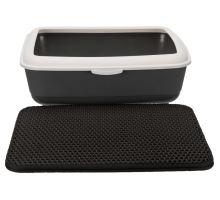 Podložka pred mačacie WC, EVA, 35x45cm, čierna