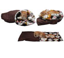 Pelíšek pro kočky XL - tmavě hnědá/kočky