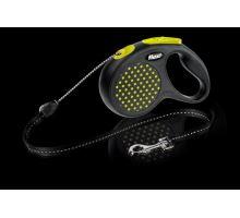 Vodítko FLEXI Design lanko žlté M 1ks