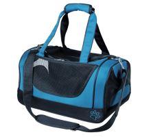 Cestovná sieťovaná taška JACOB modro / čierna 27x23x42 cm