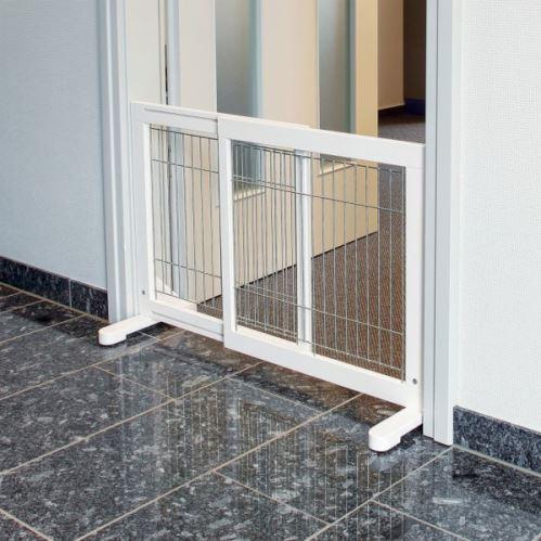 Posuvná bariéra pro psy 65-108 x 61 x 31 bílá