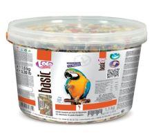 Lolo BASIC kompl.krmivo pre veľké papagáje 3L / 2,4kg kýblik