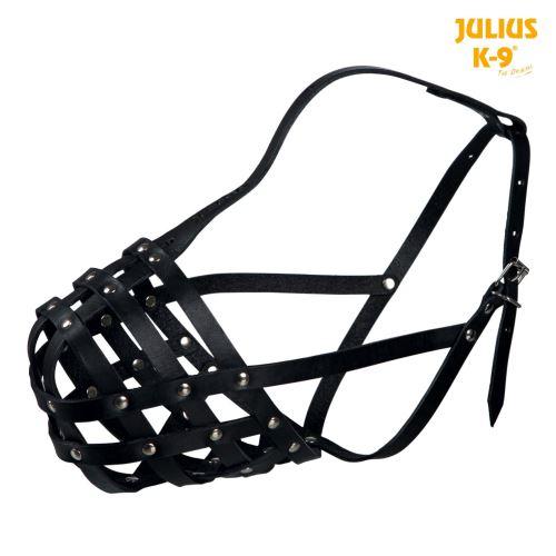 Julius-K9 náhubok hovädzej kože M čierny