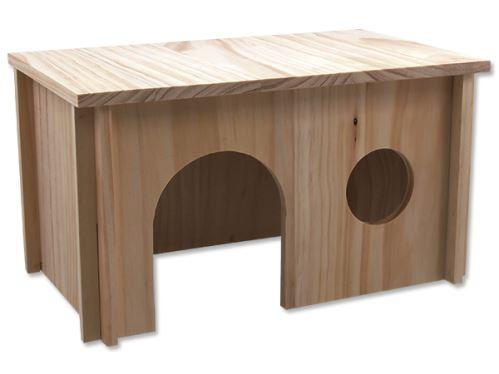 Domček SMALL ANIMAL drevený hladký 38 x 23 x 21 cm 1ks