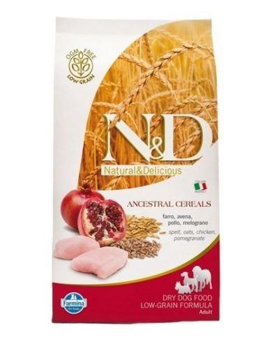 N & D Low Grain DOG Light Medium & Maxi Chicken & Pomegranate 12kg
